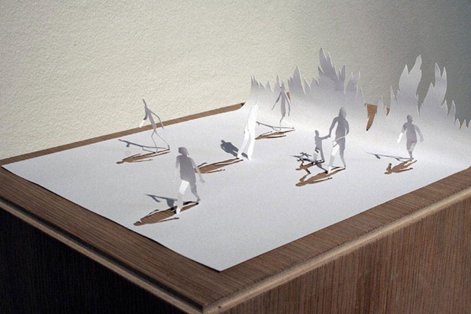 Шедевры дизайна из бумаги